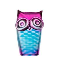 Kosta Boda My Wide Life Owl in Blue/Pink