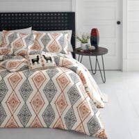 Azalea Skye® Cusco Rhombus Reversible King Duvet Cover Set in Beige