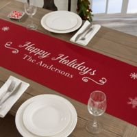 Personalized Scenic Snowflakes Table Runner