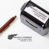 Floral Message Self-Inking Address Stamp