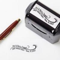 Lovely Swirls Self-Inking Address Stamp