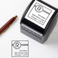 Square It! Self-Inking Address Stamp