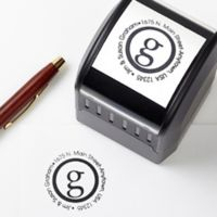 Small Initial Self-Inking Address Stamp
