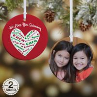Heart of Love 2-Sided Glossy Christmas Ornament