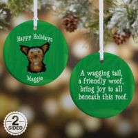 Top Dog Breeds 2-Sided Glossy Christmas Ornament