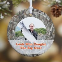 Camouflage 1-Sided Glossy Photo Christmas Ornament