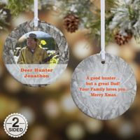 Camouflage 2-Sided Glossy Photo Christmas Ornament