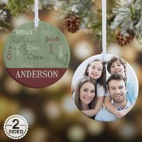Our Loving Family 2-Sided Glossy Photo Christmas Ornament