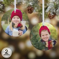 Picture Perfect 2-Sided Glossy Photo Christmas Ornament