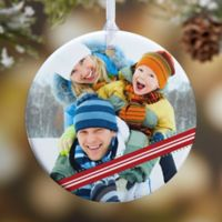 Candy Cane 1-Sided Glossy Photo Christmas Ornament Collection