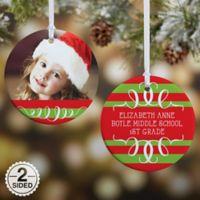 Classic Christmas Photo 2-Sided Glossy Christmas Ornament