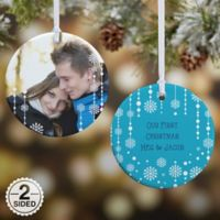 Christmas Snowflake 2-Sided Glossy Photo Christmas Ornament