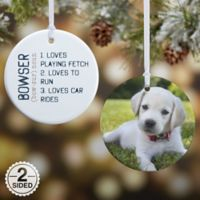 Definition of Pet 2-Sided Glossy Photo Christmas Ornament