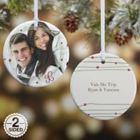 Holiday Wreath 2-Sided Glossy Photo Christmas Ornament