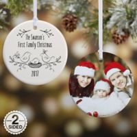 1st Family Christmas 2-Sided Glossy Christmas Ornament