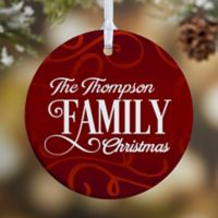 Family Christmas 1-Sided Glossy Christmas Ornament
