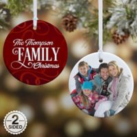 Family Christmas 2-Sided Glossy Photo Christmas Ornament