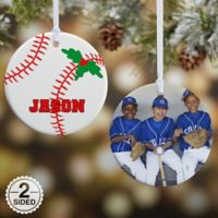 Baseball 2-Sided Glossy Photo Christmas Ornament