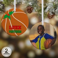 Basketball 2-Sided Glossy Photo Christmas Ornament