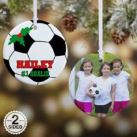 Soccer 2-Sided Glossy Photo Christmas Ornament