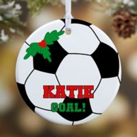 Soccer 1-Sided Glossy Christmas Ornament