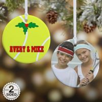 Tennis 2-Sided Glossy Photo Christmas Ornament