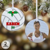 Volleyball 2-Sided Glossy Photo Christmas Ornament