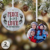 Peace, Joy, Love 2-Sided Photo Christmas Ornament