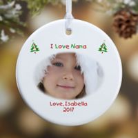 Christmas Photo Wishes 1-Sided Glossy Christmas Ornament