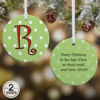 Dot To Dot 2-Sided Glossy Christmas Ornament