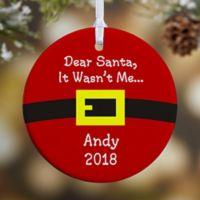 Dear Santa 1-Sided Glossy Christmas Ornament