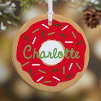 Donut Fun 1-Sided Glossy Christmas Ornament