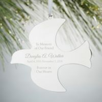 Memorial Dove Engraved Christmas Ornament