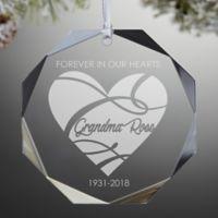 Memorial Premium Octagon Engraved Christmas Ornament