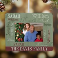 Loving Family Mini Picture Frame Christmas Ornament