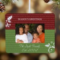 Family Is Forever Mini Photo Frame Christmas Ornament