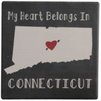 Thirstystone® My Heart Belongs to Connecticut Single Square Coaster