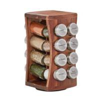 Kamenstein® 16-Jar Hourglass Acacia Spice Rack c1ae1d1c283c