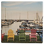 Thirstystone® Dolomite Five Chairs, Port Sanilac, Michigan Single Coaster