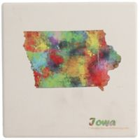 Thirstystone® Dolomite Iowa State Map Single Coaster