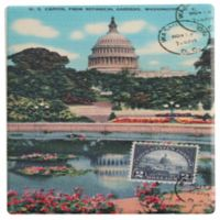 Thirstystone® Dolomite US Capitol Postcard Single Coaster