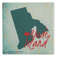 Thirstystone® Dolomite Rhode Island Heart Single Coaster
