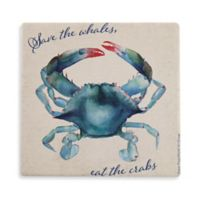 Thirstystone® Dolomite Save the Whales, Eat the Crabs Single Round Coaster
