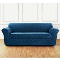 Sure Fit® Marrakesh Sofa Slipcover in Nile Blue