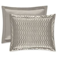 J. Queen New York® Satinique Quilted King Pillow Sham in Silver