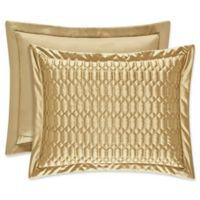 J. Queen New York® Satinique Quilted King Pillow Sham in Gold