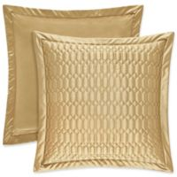 J. Queen New York® Satinique Quilted European Pillow Sham in Gold