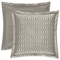 J. Queen New York® Satinique Quilted European Pillow Sham in Silver