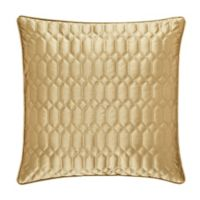 J. Queen New York® Satinique Square Throw Pillow in Gold
