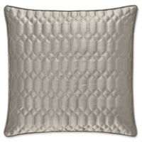 J. Queen New York® Satinique Square Throw Pillow in Silver